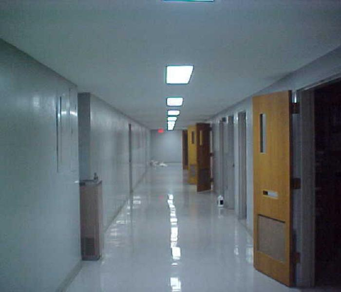 Hallway in commercial building