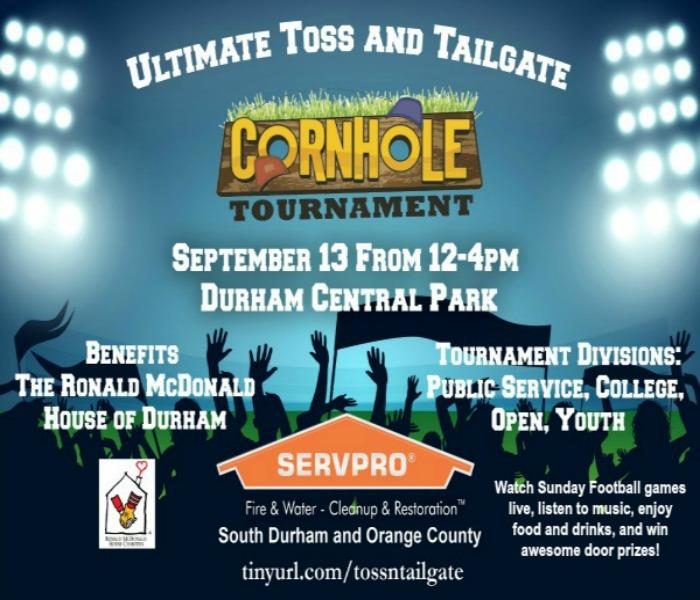 General SERVPRO of South Durham & Orange County Ultimate Toss And Tailgate: Join us For FUN and a Great Cause